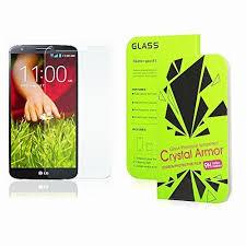 LG G2 <b>Screen Protector</b>, Crystal Armor <b>0.33mm</b> Tempered Glass ...