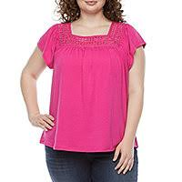 <b>Plus Size</b> Tops | Blouses <b>and</b> T-Shirts | JCPenney