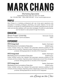 living on the chic business and professional resume design tips