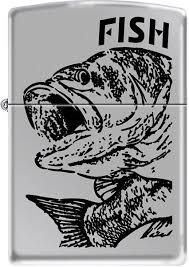 <b>Зажигалки Zippo Z_250-Fish-Big-Mouth</b> | www.undergroundmarket.ru