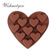 <b>WISHMETYOU</b> Silicone Soap Mold Love Chocolate Ice CubeS ...