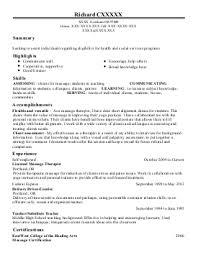 education and training resume examples  amp  samples   livecareerrichard c    college and university resume   gresham  oregon