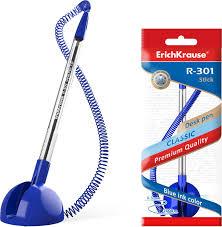 <b>Ручка ErichKrause</b> R-301 <b>Desk Pen</b> 1,0, шариковая, 46434, синий ...