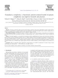 (PDF) Cumulative <b>complexity</b>: A functional, patient-centered model ...