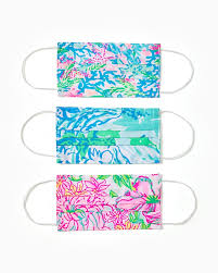 <b>Adult Face Mask</b>- Assorted 3 Pack | Lilly Pulitzer