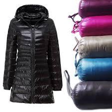 <b>Ультра легкая куртка с капюшоном</b> женщин тонкий длинный ...