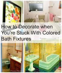 bathroom decor plants toilet house revivals decorating with colored bathroom fixtures how many time