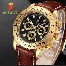 OUYAWEI Leather Mechanical Watch //Price: $37.98 & FREE ...