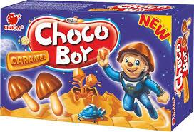 <b>Печенье Choco</b> Boy Caramel, в форме грибочка с бисквитной ...