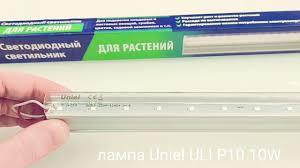 Фитолампа <b>Uniel</b> P10 10W \ Покупать или нет? Обзор и тест ...