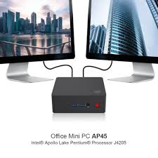 ap45 win10 mini pc intel pentium j4205 up to 2 6ghz ram ssd windows 10 dual hdmi 4xusb3 0 gigabit lan 4k htpc nuc