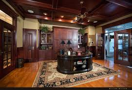 luxurious home cherry wood coffered ceiling office cherry wood home office