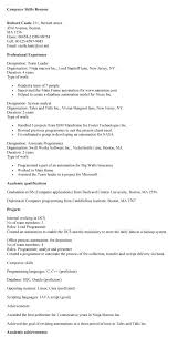 computer skills on resume example   uhpy is resume in you computer assistant resume s lewesmr