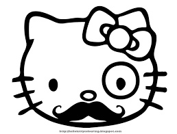 hello kitty face coloring pages template coloring color online 4 punk hello kitty and strawberry hello kitty party invites coloring pages for kids
