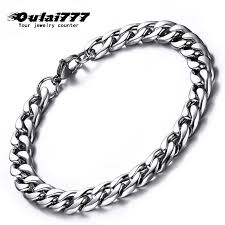 <b>oulai777</b> chain on hand mens bracelets <b>stainless</b> steel <b>silver</b> ...