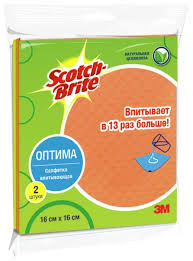 "Набор впитывающих <b>салфеток Scotch-Brite</b> ""<b>Оптима</b>"" 2 шт ..."