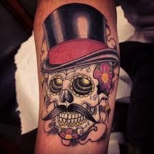 15 Gentlemanly <b>Top Hat</b> Tattoos | Tatuagem caveira mexicana ...