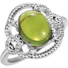 <b>Peridot</b> Rings - <b>Pretty</b> Fine <b>Green Peridot</b> Gold & Diamond Rings at ...