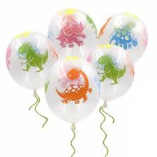 <b>10pcs</b>/bag 12 Inch Thick <b>Cartoon</b> Transparent <b>Dinosaur</b> Balloon ...