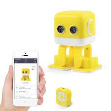 Интеллектуальный танцующий <b>робот WLtoys</b> Cubee F9 Yellow ...