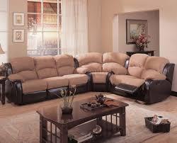 two tone mocha dark brown modern reclining sectional sofa