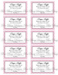 diaper raffle ticket template info girl elephant diaper raffle tickets printables for baby girl
