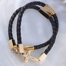 Кожаный <b>шнурок на шею с</b> золотой застежкой или серебряной ...