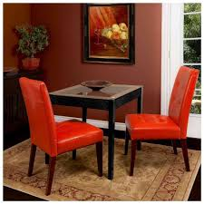 Brown Leather Dining Room Chairs Dining Room Red Leather Dining Chairs With Square Glass Table