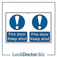 Fire Door Keep Shut 200mm X 300mm PVC Self Adhesive Sign  E