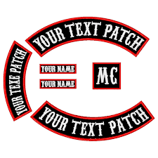 6PCS 450MM Wide Font <b>Patch Custom Embroidered</b> Rocker <b>Iron</b> ...