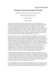 (PDF) Proposal for <b>Alchemical Symbols</b> in Unicode