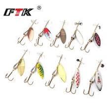 <b>FTK Fish Spinner Bait</b> Artificial <b>Bait</b> Fake <b>Lure</b> 3008# 10 colors ...