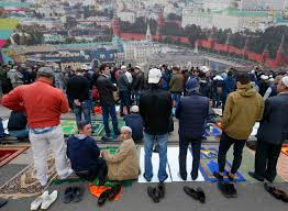 Moskova'da Ramazan Bayramı coşkusu