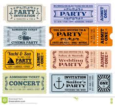 entertainment party and cinema vector vintage tickets coupons entertainment party and cinema vector vintage tickets coupons templates