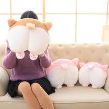 Funny <b>Cute Corgi</b> Butt Warm Hands Cover Pillow Home Cushion ...