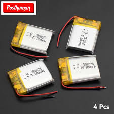 posthuman 1 2 4 pieces 3 7v volt li po ion lipo lithium polymer tablet pc e book headphone pda rechargeable battery