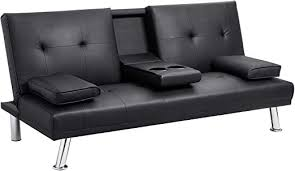 Walsunny Modern Faux Leather Couch, Convertible ... - Amazon.com