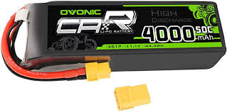 <b>OVONIC</b> 50C <b>11.1V 3S</b> 4000mAh LiPo Battery Pack with XT60 Plug ...