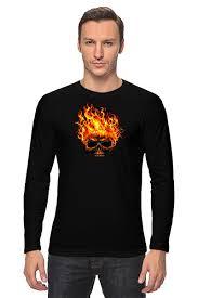 <b>Лонгслив</b> Burning Skull #378813 от Leichenwagen по цене 1 267 ...