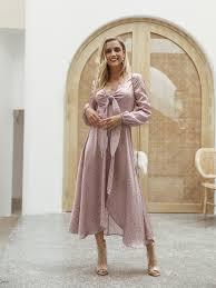 <b>Women 2019 Autumn</b> Winter Dress Pink Polka Dot Bow Satin <b>Long</b> ...