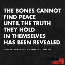 the n genocide united to end genocide bones truth revealed