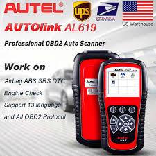 <b>Autel Autolink AL619</b> ML619 OBD2 <b>Auto</b> Code Reader Scanner ...