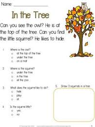 1000+ images about comprehension worksheets on Pinterest | Reading ...Fall Reading Comprehension Freebie has three simple fall themed reading passages, suitable for beginning readers. This freebie is part of my Fall Reading