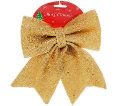 Новогодний <b>декор Бант 24см</b>, цвет - золото, упаковка 12 шт ...