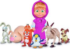 Simba <b>Игровой набор</b> с куклой <b>Маша</b> с друзьями-животными ...