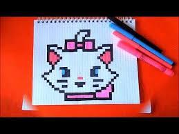 Кошечка <b>Мари</b> - <b>Marie Cat</b> - Как нарисовать по клеточкам Пиксель ...