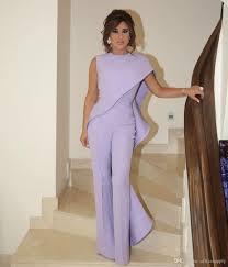 <b>Lavender</b> Jumpsuit Women Arabic Prom <b>Evening Dresses 2019</b> ...