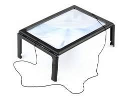 <b>Лупа настольная Kromatech 3x</b> линза Френеля с подсветкой 4 LED