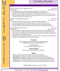 medical billing and coding resume sample sample resumes you must need some examples of the duties of medical biller