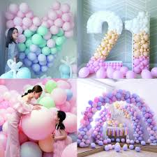 <b>100pcs 10 Inch Macaron Color</b> Latex Balloons Birthday Party ...